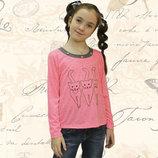 Блуза для девочек вышивка рост 116-134
