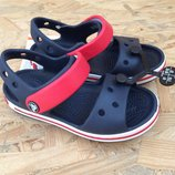 66051db99016 детские босоножки крокс сандалии Crocs Crocband Sandal Kids кроксы с7 и с9