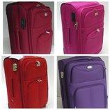 Двухколесные тканевые чемоданы большой, средний, маленький