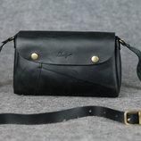 Кожа. Ручная работа. Кожаная женская сумка, сумочка, клатч зеленая, бордо, синяя, черная, красная