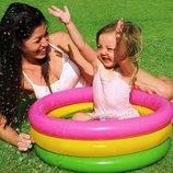 Детский надувной бассейн Intex 57107 Радуга надувное дно, 61х22 см от 1 до 3 лет
