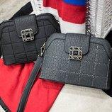 Модная сумка с камнями женская черная, серая, красная