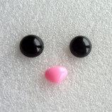 Глазки и носики для изготовления игрушек