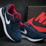 Кроссовки мужские Nike Air Pegasus, замша,темно-синие