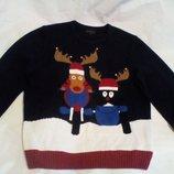 свитер с новогодней символикой и бубенчиками easy truly premium goods XL
