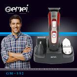 Аккумуляторная машинка для стрижки Gemei Gm-592, 10 в 1 набор для стрижки волос