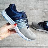 Кроссовки мужские сетка Sport gray/blue