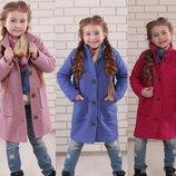 Шерстяные пальто, для девочек размеры и цвета разные