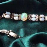 Старинный браслет с опалами и бриллиантами