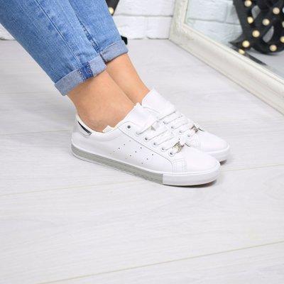 Женские белые стильные кеды кроссовки