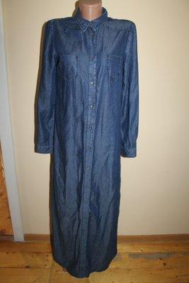 M разм. Платье - рубашка макси в пол LcwJeans. В реале темнее чем на фото. длина по спинке - 141 см.