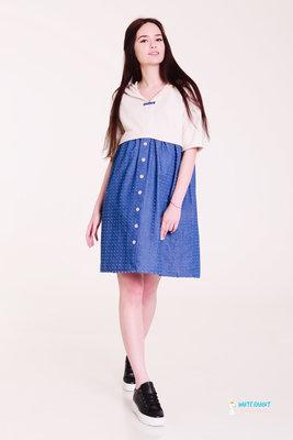Платье рубашка с капюшоном для беременных на лето swetty бежевый