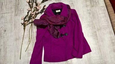 Яркое фиолетовое пальто дафлкот/дафлпальто/ разлетайка от Precis L