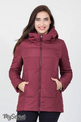 b91b80c3f099 Демисезонная стеганная куртка для беременных Emma бордо