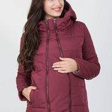 Демисезонная стеганная куртка для беременных Emma бордо