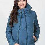 Демисезонная курточка со вставкой под живот для беременных Emma морская волна