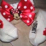 Красивый набор повязка и носочки на девочку от Disney.Оригинал