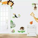Интерьерные наклейки разные виды для детской комнаты виниловые