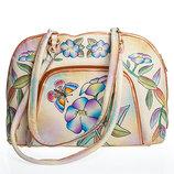 Мегавместительная кожаная сумка с органайзером