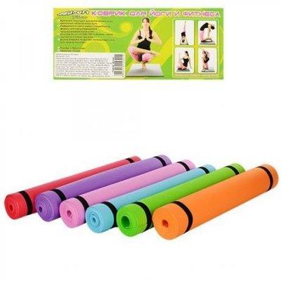 Йогомат Коврики для фитнеса йоги аэробики спорта MS 0205 Profi Sport