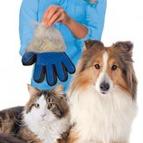 Перчатка для вычесывания шерсти каошек и собак TRUE TOUCH