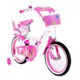 Двухколесный велосипед на девочку Little Queen Маленькая королева на 16 д