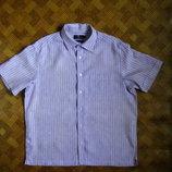мужская рубашка - 100% лён - Blue Harbour - размер L - наш 50-52рр.