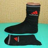 Новые мужские черные высокие носки Adidas