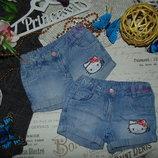 3-4года.Модные шорты Hello Kitty.Мега выбор обуви и одежды