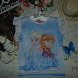 6-7лет.Футболка Disney Frozen.Мега выбор обуви и одежды