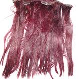 Натуральные волосы крашеные 180г длина 45см