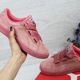 Кроссовки женские Puma Suede pink