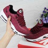 Кроссовки женские Nike 95 бордовые