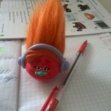 Розочка тролль на карандаш или ручку