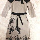 Трикотажное платье с велюровым напылением фирмы BAGEN Турция