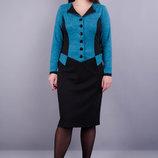 Платье в деловом стиле. Материал ангора французский трикотаж Размеры 50, 52, 54, 56 Длина по п