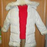Куртка на девочку 4-6 лет рост 110 см