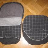 Фирменный утепленный конверт-чехол в коляску M P и накидка на коляску