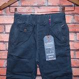 Серые коттоновые брюки для мальчика р. 116-146. Венгрия
