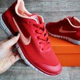Кроссовки женские Nike Free Run 3.0 red