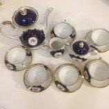 Сервиз набор для чая кофе очень красивый фирменный в стиле барокко
