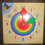 Деревянные часы вкладыши Радуга Р01. В наличии.
