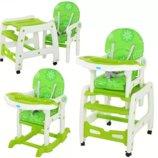 Стульчик для кормления BAMBI 2в1 столик со стульчиком HZ505-5 зеленый