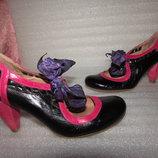 Красивые Туфли Полностью Натуральная Кожа ~FAITH ~ Испания р 38