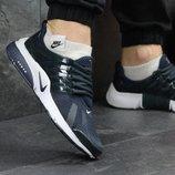 Кроссовки мужские Nike Air Presto, темно синие с белым