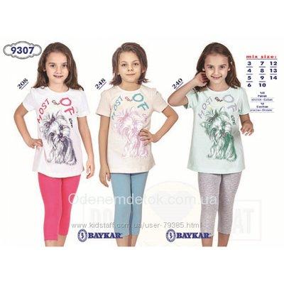 122-164 Пижама для девочки летняя мод. 9307 Baykar