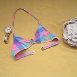 Красивый разноцветный пляжный бюстгальтер,необычная ткань,отличное состояние