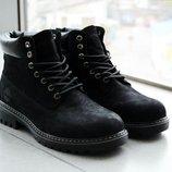 Мужские зимние ботинки Timberland Black. Доставка по Украине