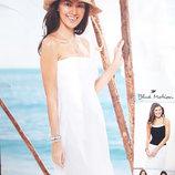 Белый пляжный сарафан на резинке размер S, 19-136 Ю