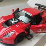 Машинка металл новинки Corvette C7.R Корвет Kinsmart